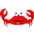 happy crab cartoon vector image