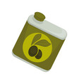 jar with olive oil vector image
