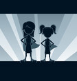super girls silhouettes vector image vector image