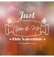 Happy Valentines Typography Background vector image