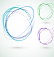 Abstract circle design swoosh line elements vector image