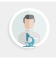 round paper icon researcher successful man vector image