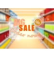 Big sale in supermarket concept poster vector image