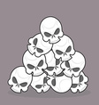 pile of skulls vector image