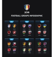 France 2016 football icons flags of the countries vector image