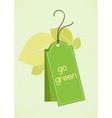 eco friendly tag vector image