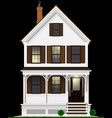 a typical and classic american house made of wood vector image