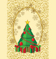 abstract christmas tree card vector image