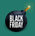 black friday bomb sale poster template vector image