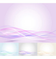 Colorful transparent wave - abstract background vector image