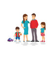 cute cartoon family in colorful casual clothes vector image