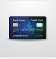 detailed realistic credit card front side money vector image