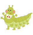 Green Caterpillar vector image