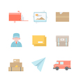 Post office related icons vector image