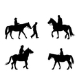 riding horses vector image