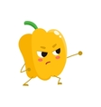 Ripe yellow bell pepper wrestling vector image