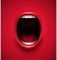 Scream background vector image