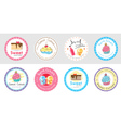 Set of cute sweet bakery badge label vector image
