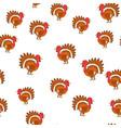 thanksgiving turkey bird cartoon seamless pattern vector image
