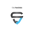 S- letter icon abstract logo design vector image
