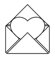 Love letter icon outline style vector image