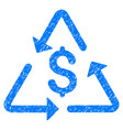 financial recycling icon grunge watermark vector image