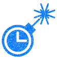 time bomb grunge icon vector image