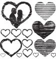 Stamp of love vector image