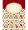 beige background with christmas balls vector image