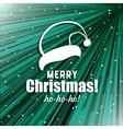 Xmas Postcard With Santas Hat vector image