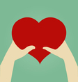 Hands of Woman and Man with heart Love Concept vector image