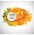 Abstract White Text Round Box on Zigzag Line vector image