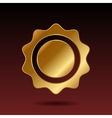 Blank Gold Label Template vector image