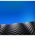 Checkered flag vector image