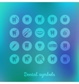 Set of dentistry symbols vector image