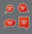 special offer sign set sale symbol vector image