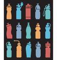 water bottles set vector image