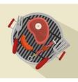 grills menu beef beer design isolated vector image