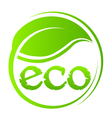 Eco green seal vector image