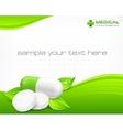 Pills text vector image