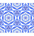 kaleidoscopic pattern blue flower background vector image