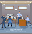 security room vector image