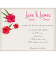 hibiscus wedding background vector image vector image
