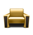 gold leather armchair vector image