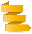 Yellow paper arrow vector image