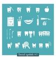 Set of dentistry symbols part 1 vector image