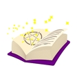 Magic book cartoon icon vector image