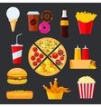 Fast food menu drinks and desserts vector image vector image
