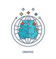 about creative thinking creation an innovation vector image