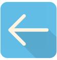 Arrow feft icon vector image